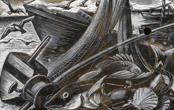 Artist Clare Leighton: Fishing (chapter header) (BPL 689)