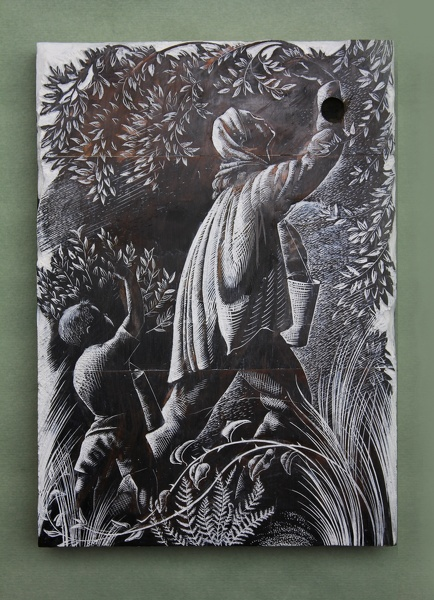Artist Clare Leighton: Picking Blueberries, BPL 699