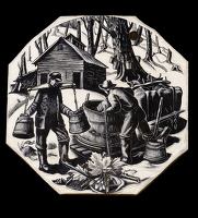 Artist Clare Leighton: Maple Sugaring, BPL610, 1949-50