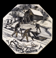 Artist Clare Leighton: Ice Cutting, BPL607, 1949-50