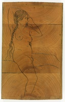Artist Eric Gill: Female Nude, seated - Twenty-five Nudes (P951), c 1938