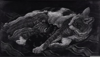 Artist Charles Frederick Tunnicliffe R.A.: Cat and Kittens